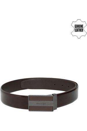 Ruosh Men Brown Solid Genuine Leather Belt