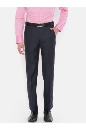 Park Avenue Men Super Slim Fit Solid Formal Trousers