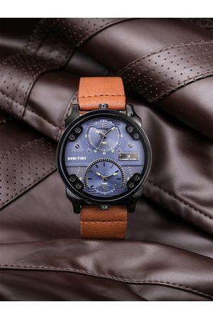 Daniel Klein Men Blue Dual Time Analogue Watch DK11125-5