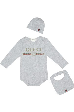 Gucci Cotton onesie, bib and hat set