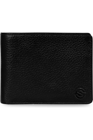 Scharf Men Solid Leather Two Fold Wallet