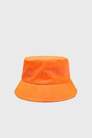 Zara Men Hats - Slogan bucket hat