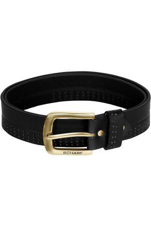 Scharf Men Leather Solid Belt