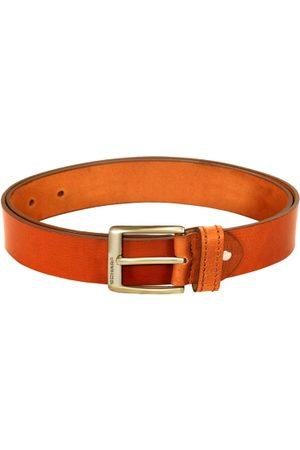 Scharf Men Tan Brown Leather Solid Belt