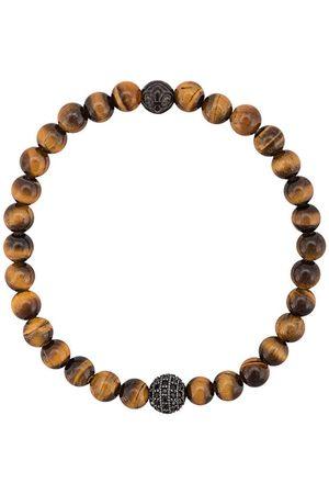 Nialaya CZ tiger eye beaded bracelet
