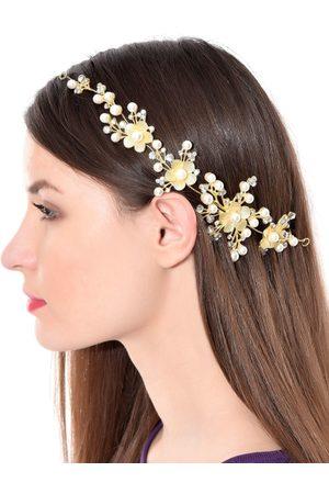 Priyaasi Gold-Plated Stone-Studded Hairband