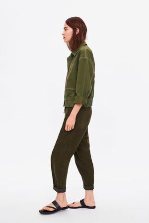 Zara Baggy corduroy trousers