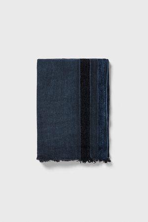 Zara Contrast striped scarf