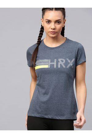 HRX Women Printed Round Neck T-shirt
