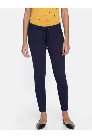 Park Avenue Women Regular Fit Solid Regular Trousers