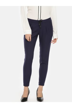 Park Avenue Women Tapered Fit Solid Regular Trousers