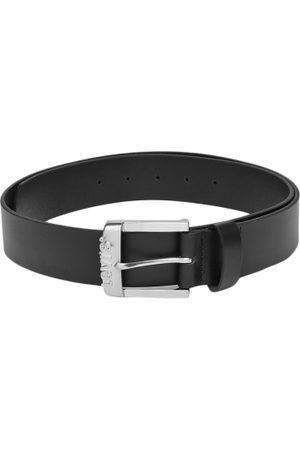 Levi's Men Belts - Men Black Solid Leather Belt