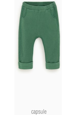 Zara Kids Trousers - Seamed check-textured trousers