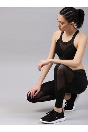 HRX Women Solid Rapid-Dry Training Tights