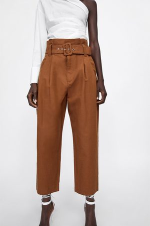 Zara Darted trousers with belt