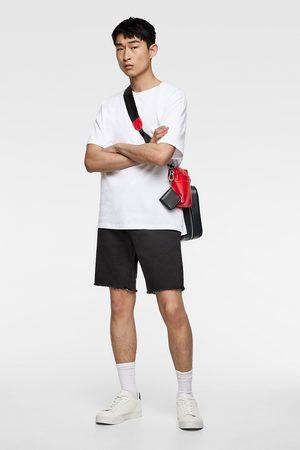 Zara Men Bermudas - Soft denim bermuda shorts