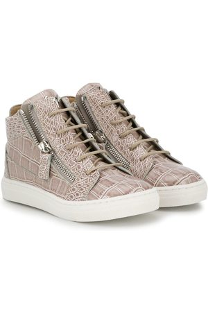 Giuseppe Zanotti Crocodile effect hi-top sneakers