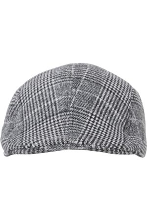 FabSeasons Men Grey Checked Ascot Cap