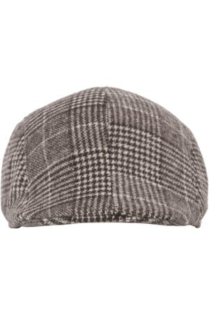 FabSeasons Men Brown & Black Self Design Ascot Cap