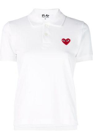 Comme des Garçons Women Polo Shirts - Logo heart polo shirt