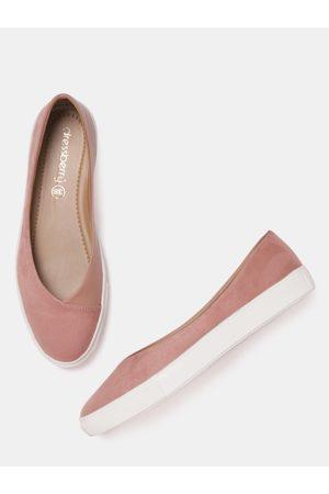 DressBerry Women Dusty Pink Solid Ballerinas