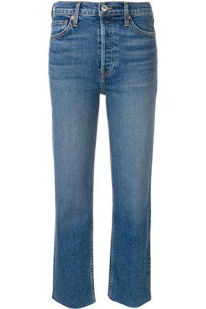 RE/DONE Frayed hem cropped jeans