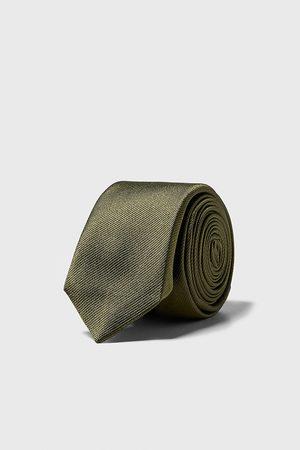 Zara Men Neckties - Textured skinny tie