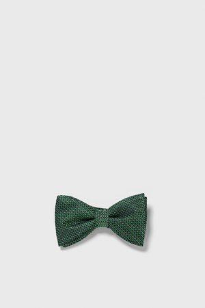 Zara Colourful jacquard bow tie