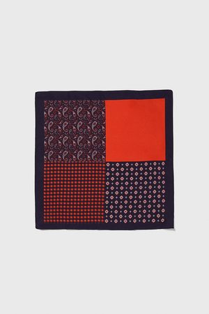 Zara Men Handkerchiefs - Contrast pocket square