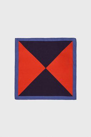 Zara Triangle-design pocket square