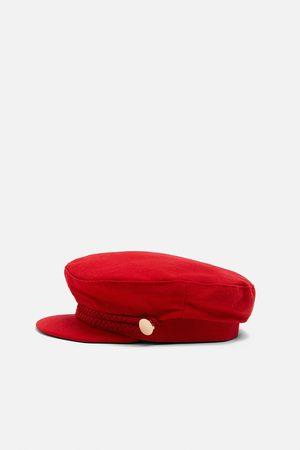 Zara Women Caps - Nautical cap with buttons