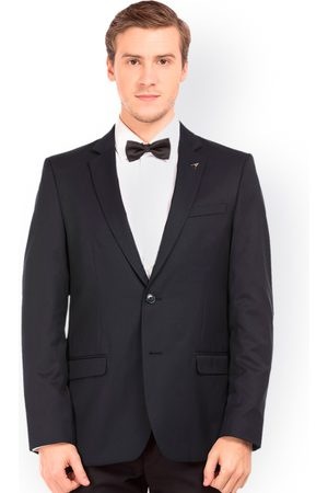 Arrow Men Navy Tailored Fit Single Breasted Blazer