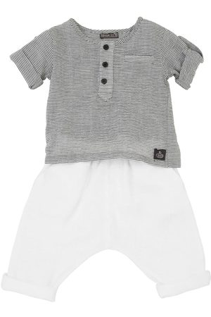 YELLOWSUB Striped Cotton Shirt & Pants