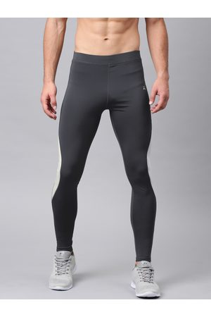 HRX by Hrithik Roshan Men Charcoal Grey Solid Rapid-Dry Training Tights