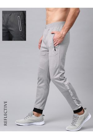 HRX Men Solid Rapid-Dry Training Joggers