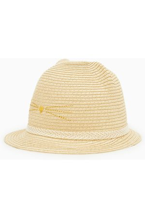 f680623d Zara Baby Hats - Straw hat with ears and shimmer