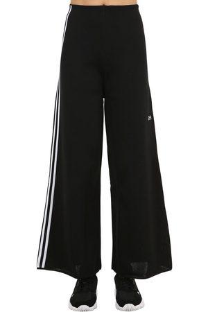 adidas Women Wide Leg Trousers - Wide Leg Techno Track Pants