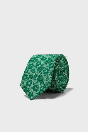 Zara Floral slim tie