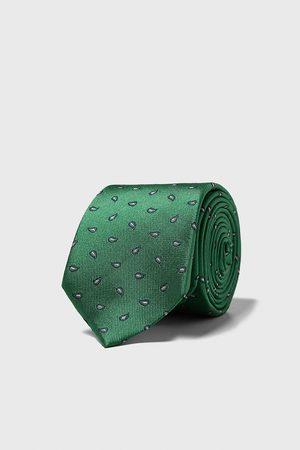Zara Paisley jacquard wide tie