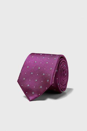 Zara Wide jacquard tie