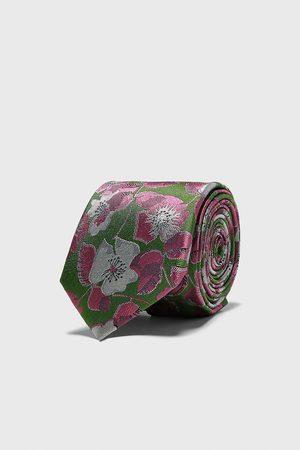 Zara Floral jacquard wide tie
