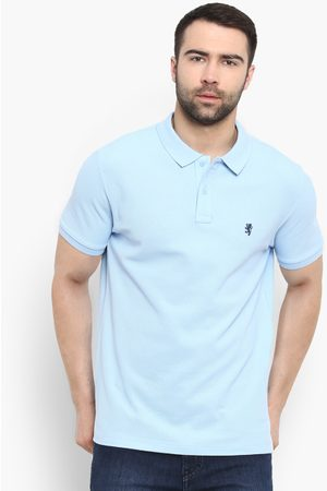 Red Tape Men Blue Solid Polo Collar T-shirt