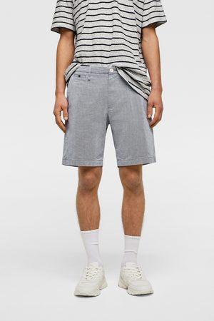 Zara Textured bermuda shorts with contrast trim