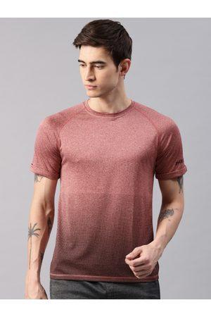 HRX Men Printed Rapid-Dry Round Neck T-shirt