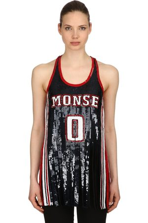 MONSE Sequined Silk Tank Top