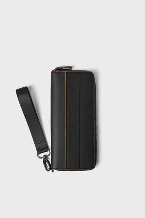 Zara Xl wallet with orange details