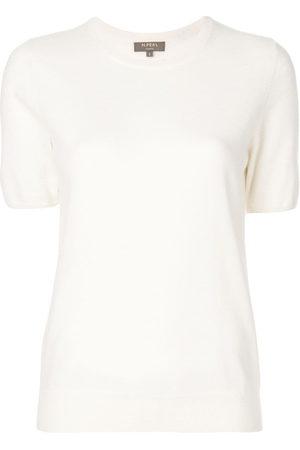 N.PEAL Women Short Sleeve - Cashmere round neck T-shirt