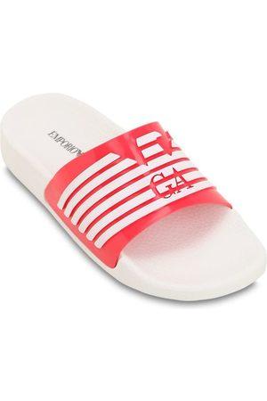 Armani Logo Printed Rubber Slide Sandals