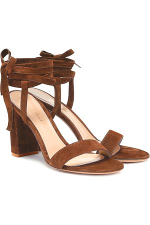 Gianvito Rossi Exclusive to Mytheresa – Gaia 85 suede sandals