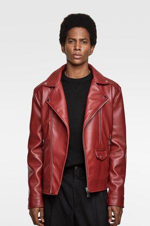 c0fc00ef Faux leather biker jacket